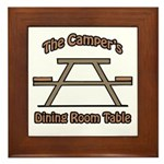 The campers dining room table Framed Tile