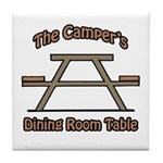 The campers dining room table Tile Coaster