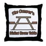 The campers dining room table Throw Pillow