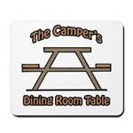 The campers dining room table Mousepad
