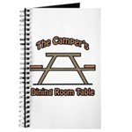 The campers dining room table Journal
