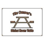 The campers dining room table Banner