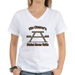 The campers dining room table Women's V-Neck T-Shi
