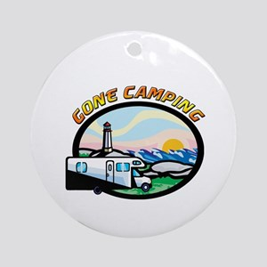 Gone Camping Ornament (Round)