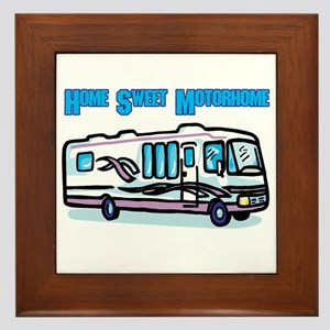 Home Sweet Motorhome Framed Tile