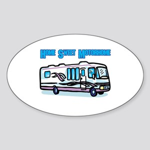 Home Sweet Motorhome Oval Sticker