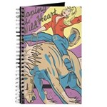 Sexy Cowgirl Riding Bronco Horse Journal