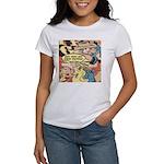 Western Cowgirl Cowboy Pop Art Women's T-Shirt