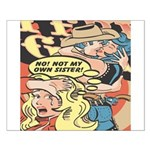 Western Cowgirl Cowboy Pop Art Small Poster