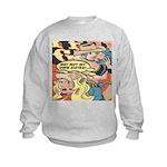 Western Cowgirl Cowboy Pop Art Kids Sweatshirt