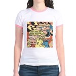 Western Cowgirl Cowboy Pop Art Jr. Ringer T-Shirt