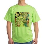 Western Cowgirl Cowboy Pop Art Green T-Shirt
