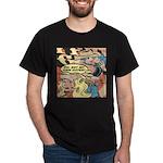Western Cowgirl Cowboy Pop Art Dark T-Shirt