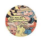 Western Cowgirl Cowboy Pop Art 3.5