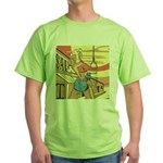 Sexy Western Cowgirl Pop Art Green T-Shirt