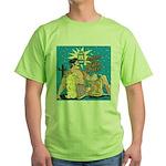 Sexy Cowboy Cowgirl Western Pop Art Green T-Shirt