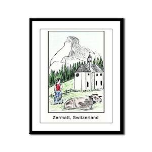 Zermatt Framed Panel Print