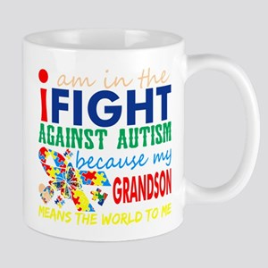 Im Fight Against Autism Grandson Means World Mugs