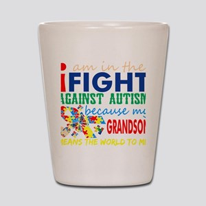 Im Fight Against Autism Grandson Means Shot Glass