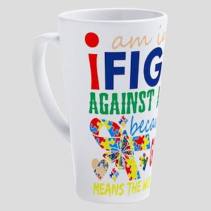 Im Fight Against Autism Grandson M 17 oz Latte Mug
