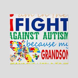 Im Fight Against Autism Grandson Mea Throw Blanket