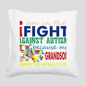 Im Fight Against Autism Grand Square Canvas Pillow