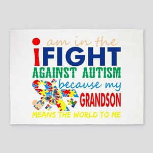 Im Fight Against Autism Grandson Me 5'x7'Area Rug