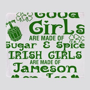 Good Girls Are Made Of Sugar & Spice Throw Blanket