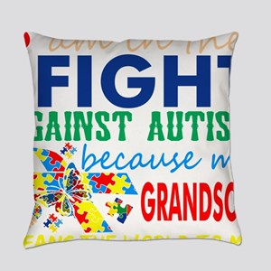 Im Fight Against Autism Grandson M Everyday Pillow