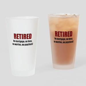 RETIRED No Worries Drinking Glass