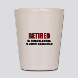 RETIRED No Worries Shot Glass