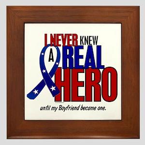 Never Knew A Hero 2 Military (Boyfriend) Framed Ti