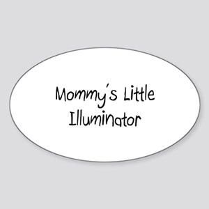Mommy's Little Illuminator Oval Sticker