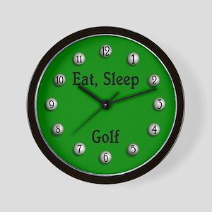 Eat, Sleep Golf Wall Clock