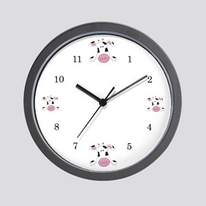 Farmer Cow Wall Clock