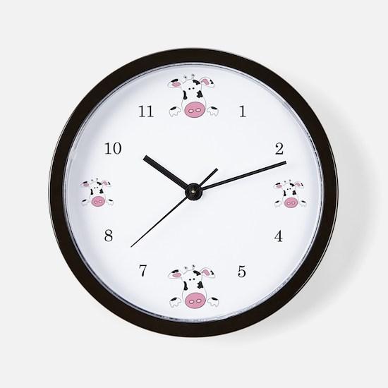 Farmer Cow Wall Clock