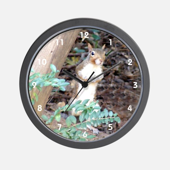 Squirrel Peeking Wall Clock