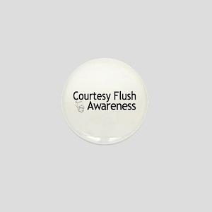Courtesy Flush Awareness Mini Button