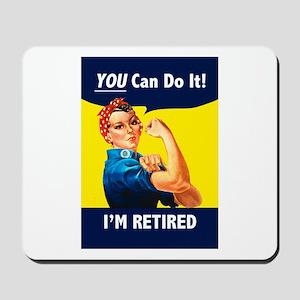 Rosie The Retired Riveter Mousepad