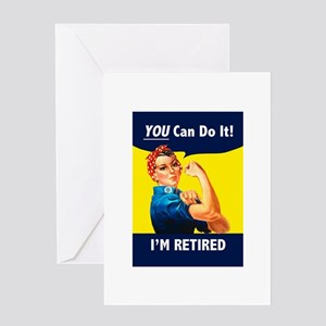 Rosie The Retired Riveter Greeting Cards
