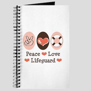 Peace Love Lifeguard Lifeguarding Journal