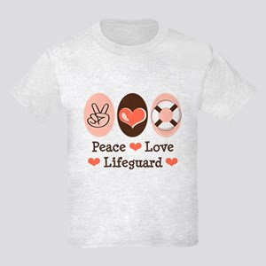 Peace Love Lifeguard Lifeguarding Tee Shirt