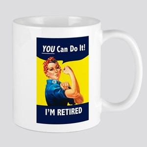 Rosie The Retired Riveter Mugs