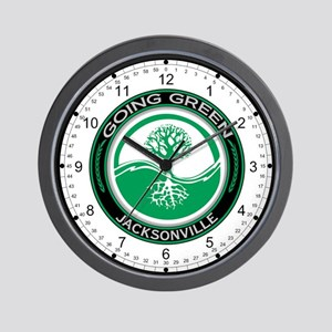 Going Green Jacksonville Tree Wall Clock
