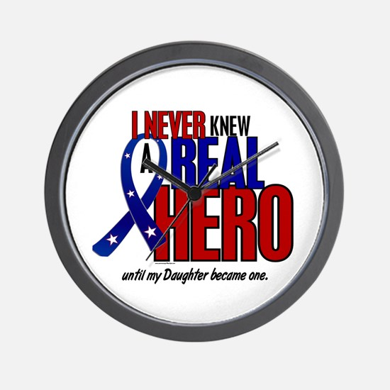 Never Knew A Hero 2 Military (Daughter) Wall Clock