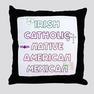 Example Personalized Nationality Throw Pillow