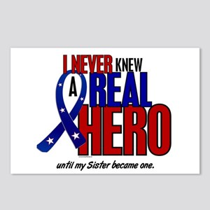 Never Knew A Hero 2 Military (Sister) Postcards (P