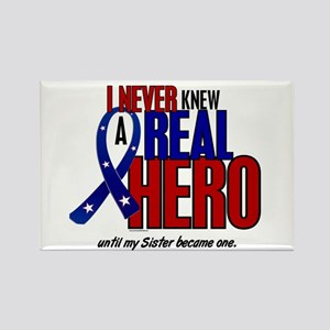 Never Knew A Hero 2 Military (Sister) Rectangle Ma