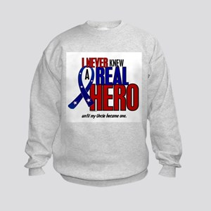 Never Knew A Hero 2 Military (Uncle) Kids Sweatshi