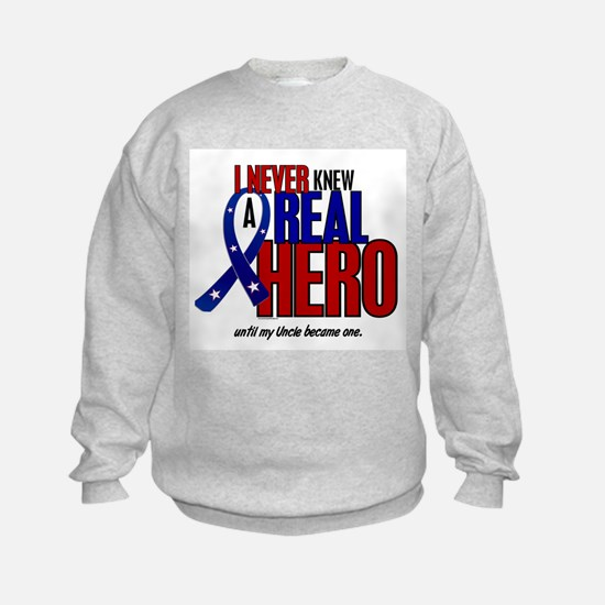 Never Knew A Hero 2 Military (Uncle) Sweatshirt